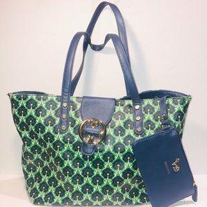 Emma Fox 🦊 Large Floral Green Tote Shoulder Bag